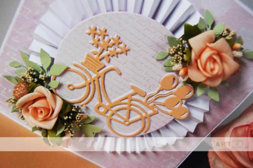 Kartka ślubna dla rowerzystów